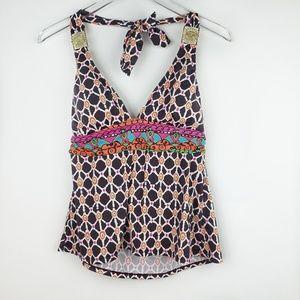 Trina Turk takini bathing suit top size 14